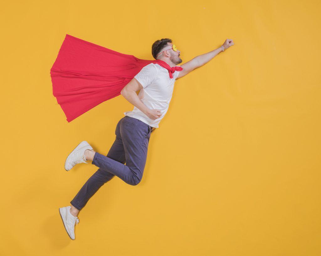 Imagen superhéroe casero